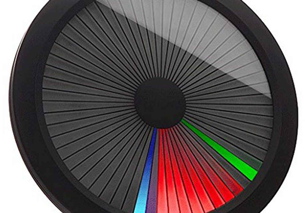 ThinkGeek Chromatic LED Color Spectrum Clock Room Decoration