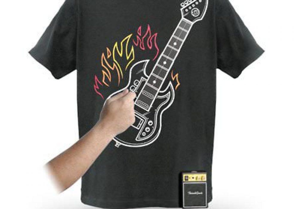 Thinkgeek Electronic Rock Guitar Shirt Novelty Gift Idea