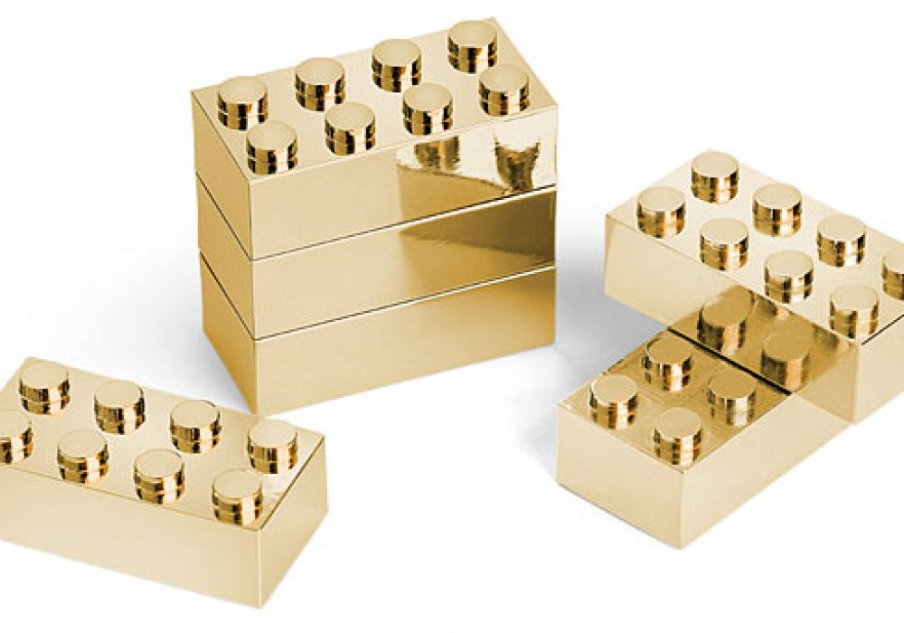 Thinkgeek Executive Building Brick Set Gold Lego