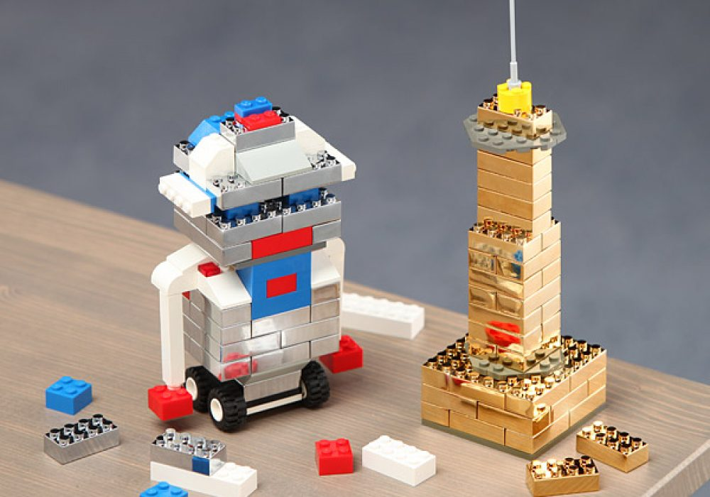 Thinkgeek Executive Building Brick Set Metal Lego
