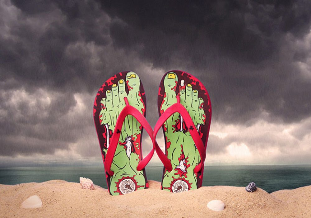 Thinkgeek Fresh Zombie Feet Cool Flip Flops to Buy