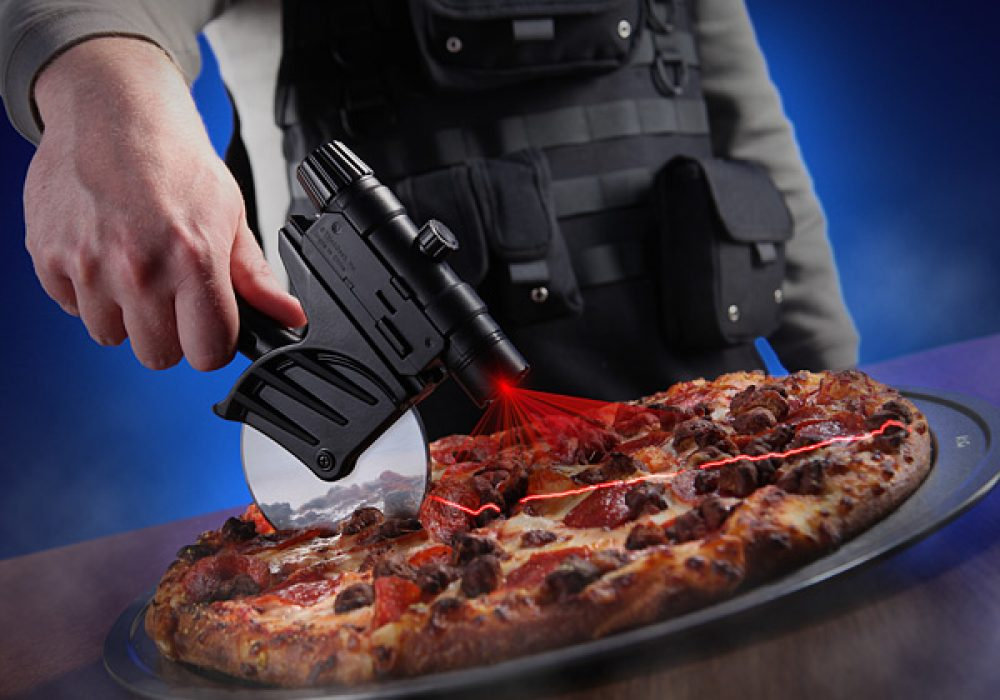 Thinkgeek Tactical Laser-Guided Pizza Cutter Cool Gift Idea to Buy for Him