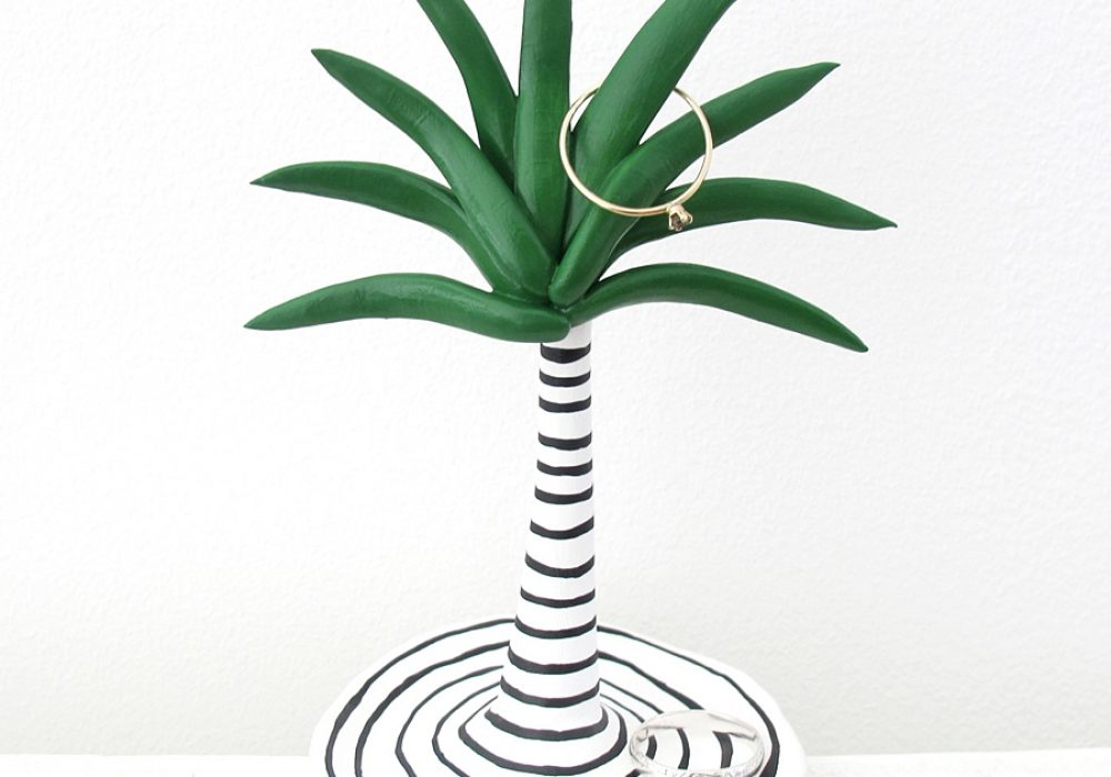 This Way To The Circus Palm Tree Ring Dish Cool Decoration