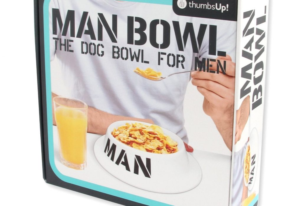 Thumbs Up! Man Bowl The Dog Bowl For Men Packaging Cool Gift for Dad