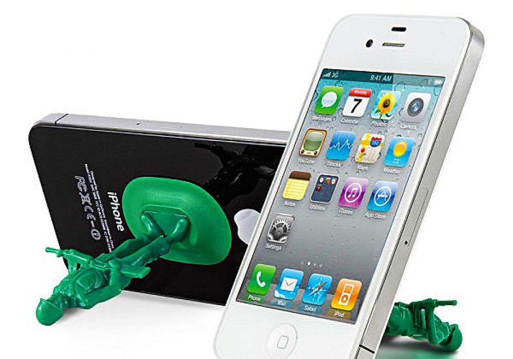Thumbsup iSoldier Phone Stand Cool Gift Idea for Him Green Toy Soldier