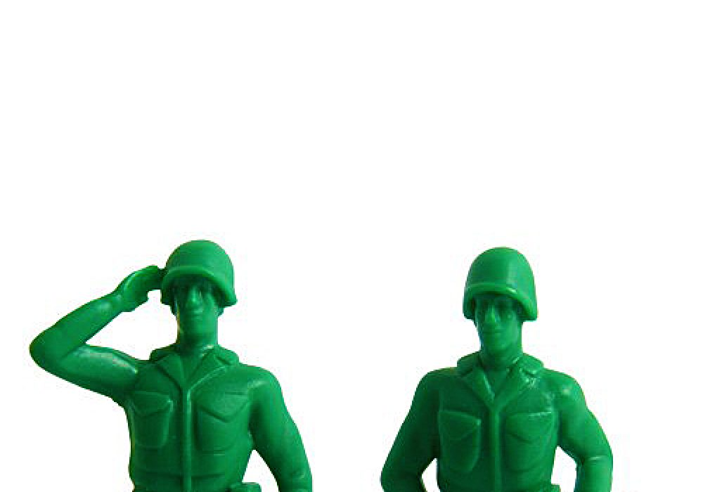Thumbsup iSoldier Phone Stand Cool Green Toy Soldiers