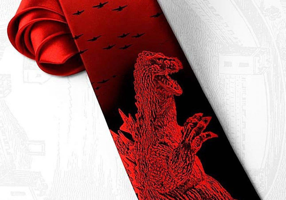 Tie Story Red Godzilla necktie Buy Men Clothing Accessory