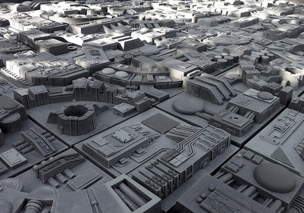 Tom Spina Designs Death Star Inspired Wall Tiles Geek Interior