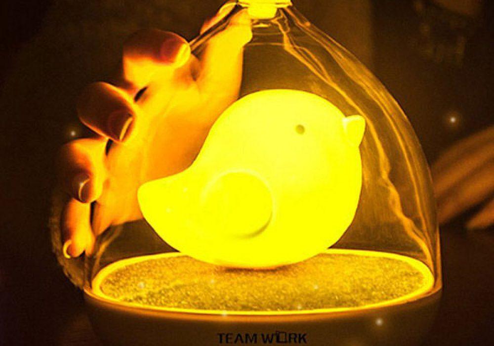 Touch Control Bird LED Night Lamp Cute Kid Nightlight