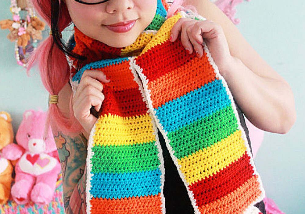 Twinkie Chan Rainbow Tart Candy Scarf Buy Unique Crochet Garments