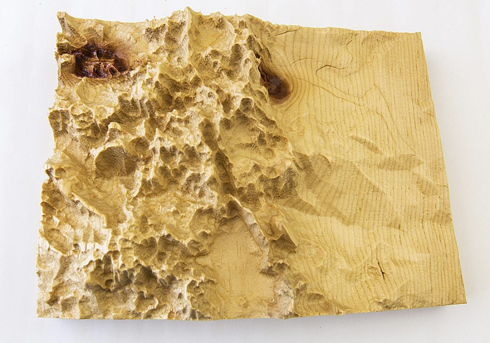 US Of Wood Any US State Wooden Topographic Map 3D Printed