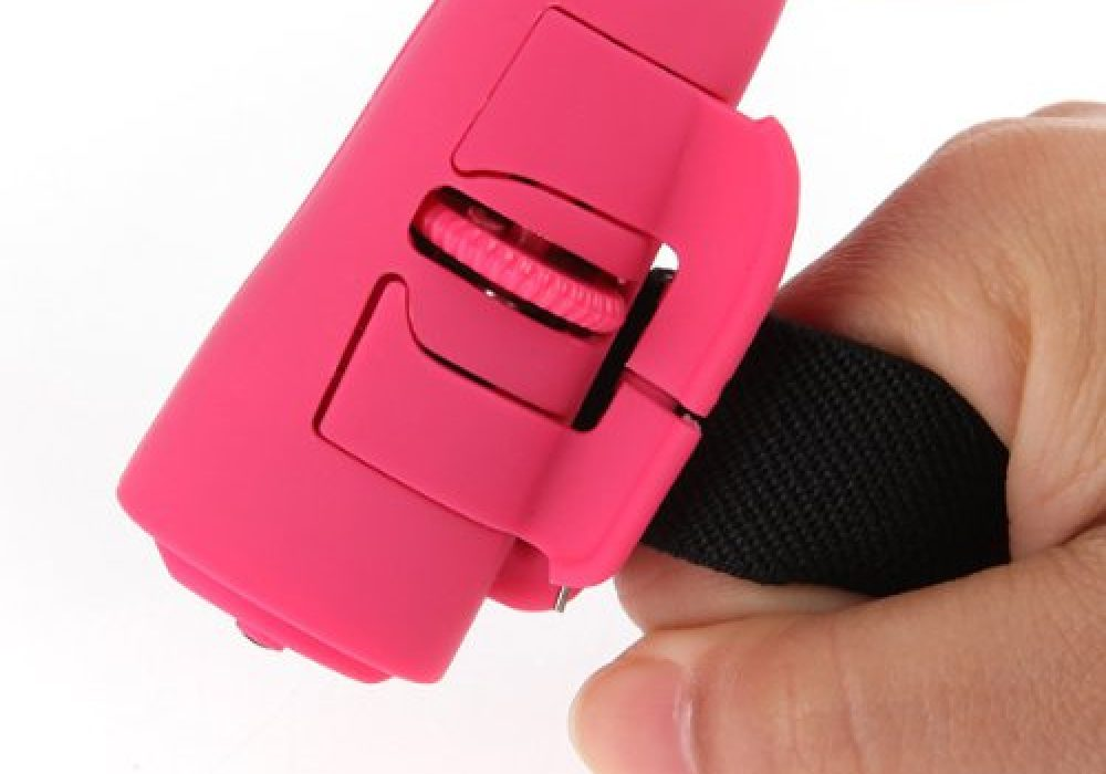 USB Optical Mouse Black Pink Fingeer Strapped