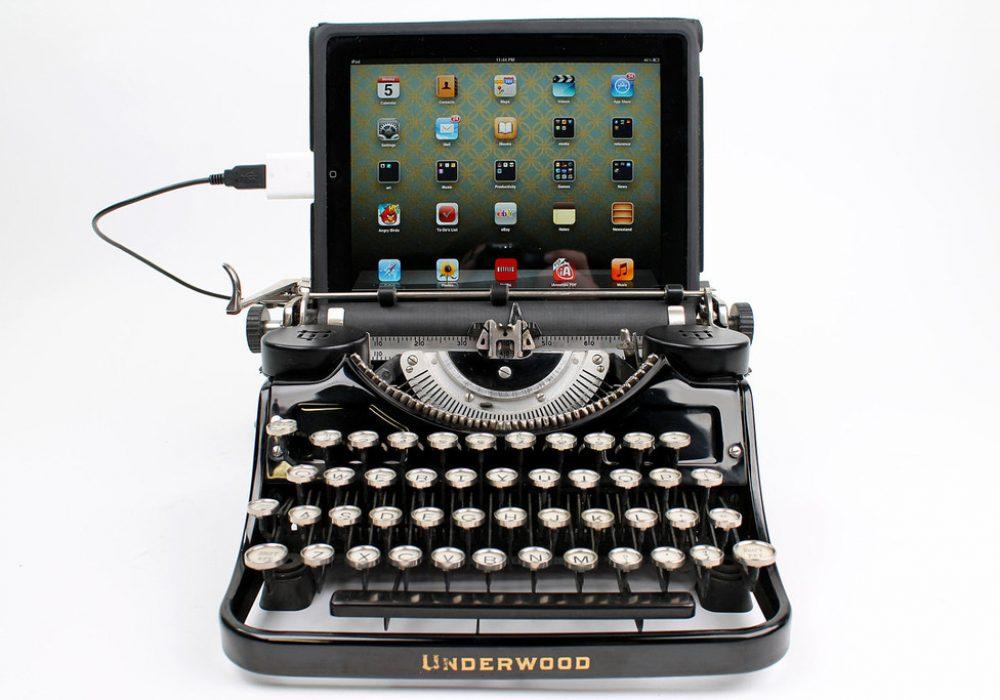 USB Typewriter Black Underwood Tablet
