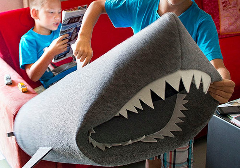 Uczarczyk Baby Shark Felt Storage Basket Bin