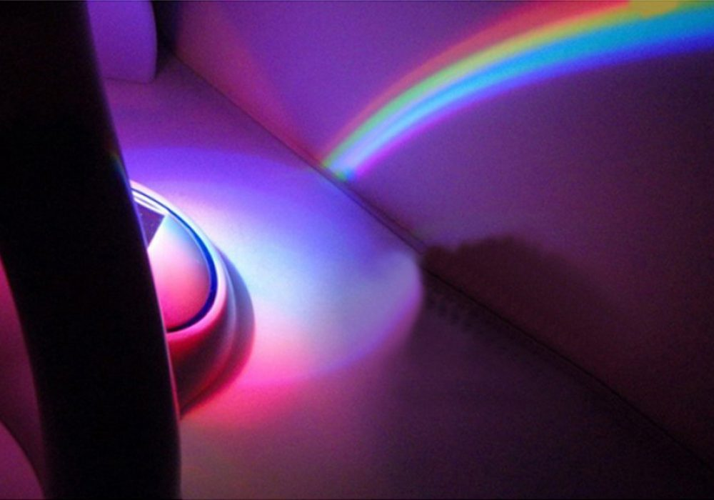 Uncle Milton Rainbow In My Room Pink Aura Colorful Wall Design