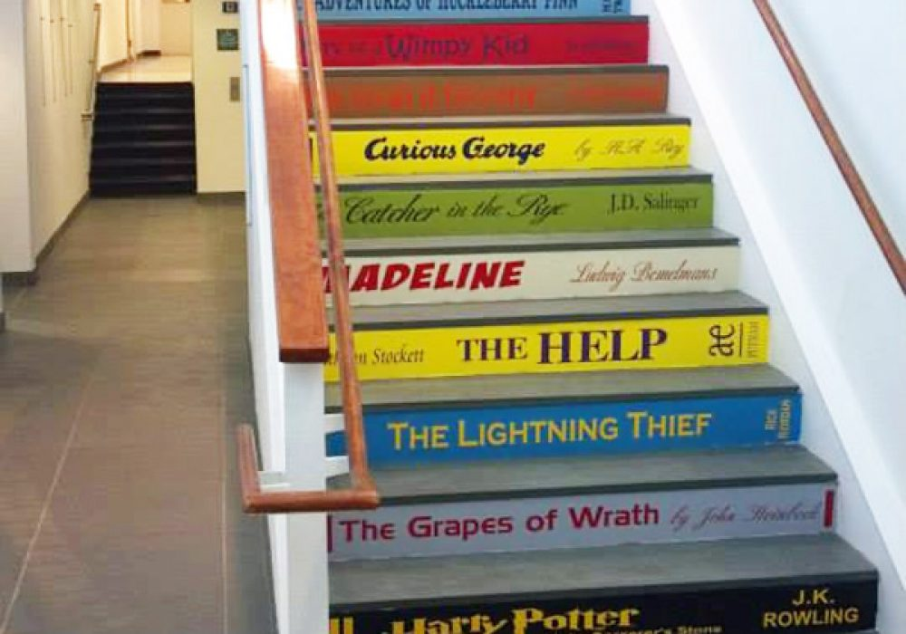 VIP Decals Book Decals for Stair Risers Bookworm Gift Idea