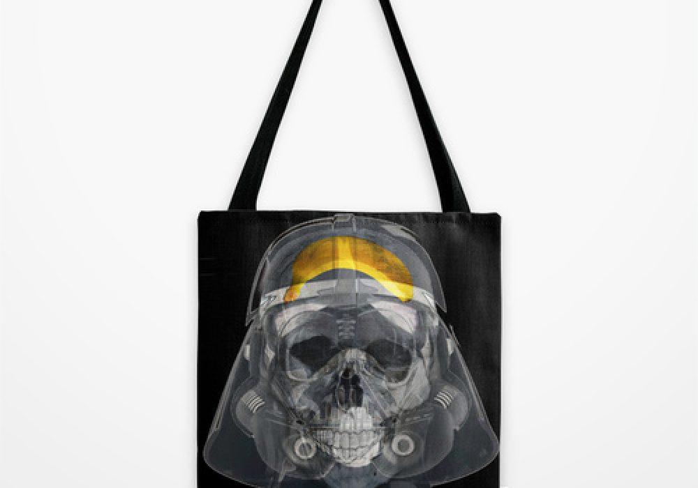 Vader Xray Tote Bag by Vin Zzep Funny Star Wars Artwork Darth Banana