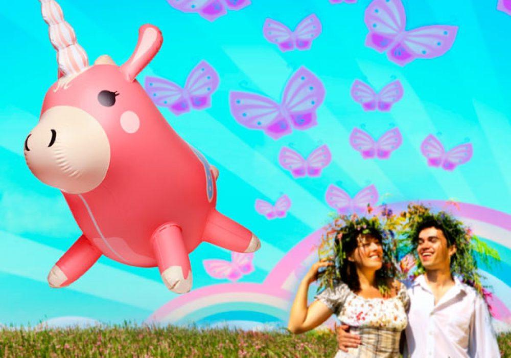 Valve Team Fortress 2 Inflatable Balloonicorn Psychadelic Imagination