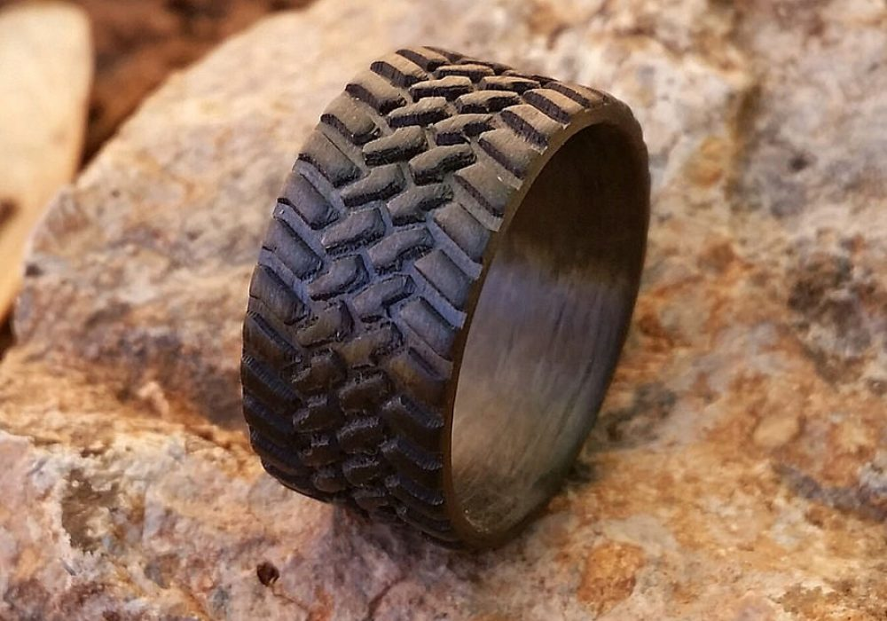 Venture Custom Off Road Tire Carbon Fiber Ring Buy Dad Gift Idea