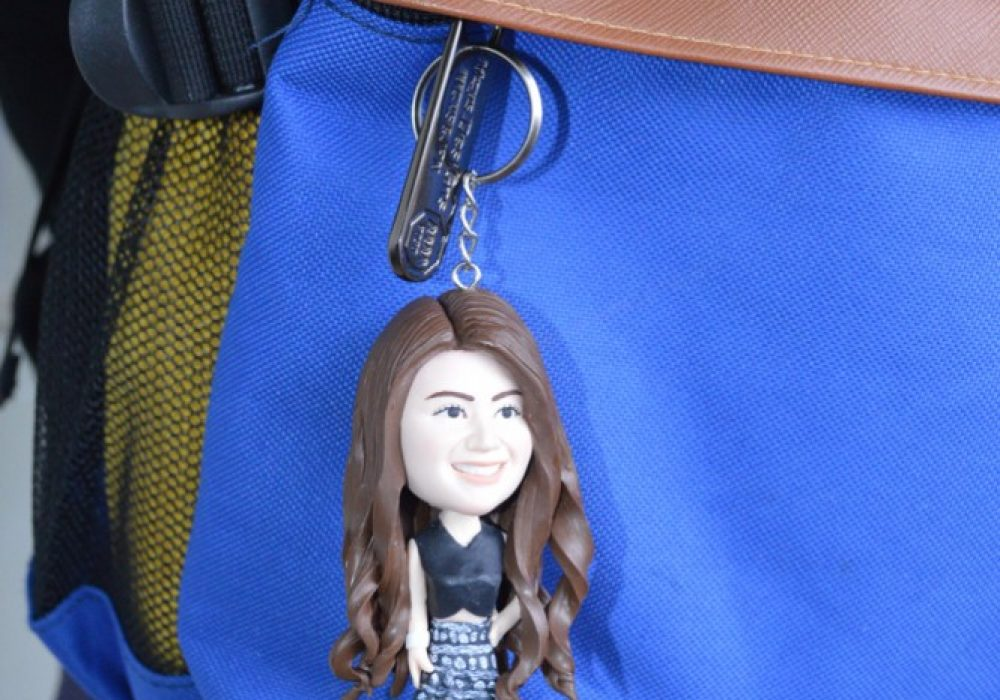 Vivan Topper Studio Personalized Couple Keychain Unique Gift for Her