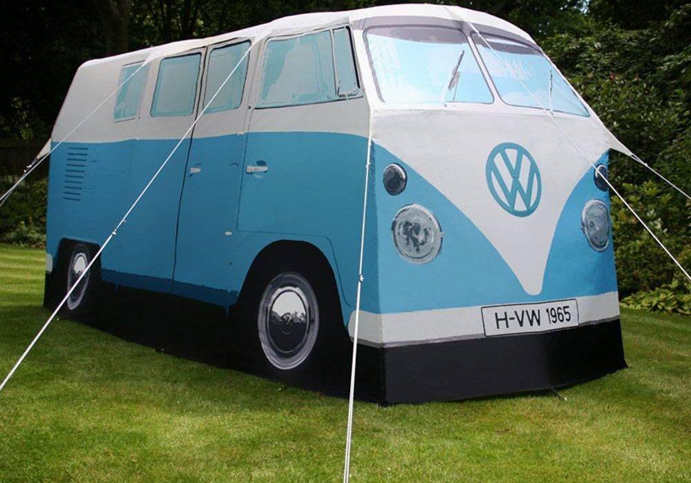 Volkswagen Van Camper Tent Blue