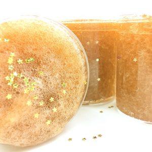 Warm Vanilla Sky Slime Sugar Scrub scented crunchy Slime