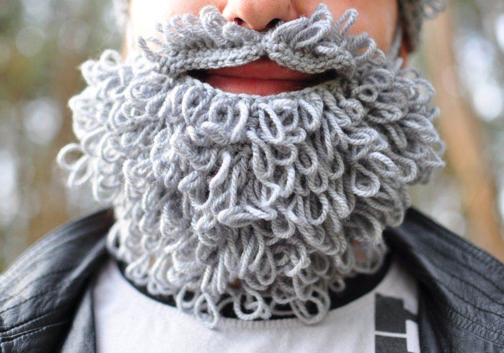 Warm Yourself Lumbersexual Crochet Beard Winter Must Have