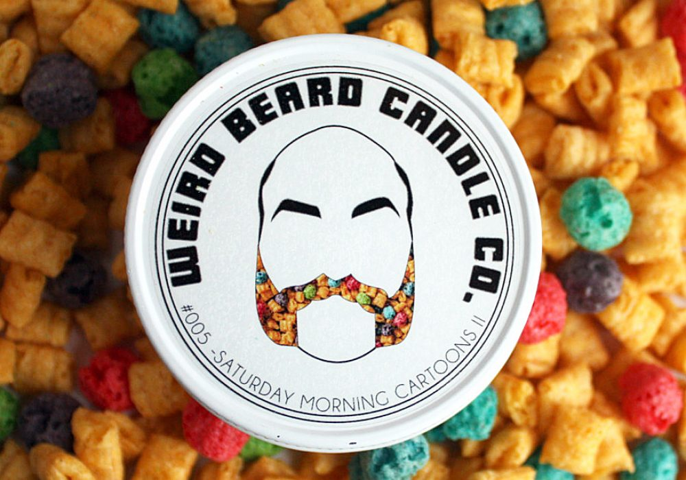 Weird Beard Candle Co. Cereal Scented Soy Candle Buy Unique Home Accessory