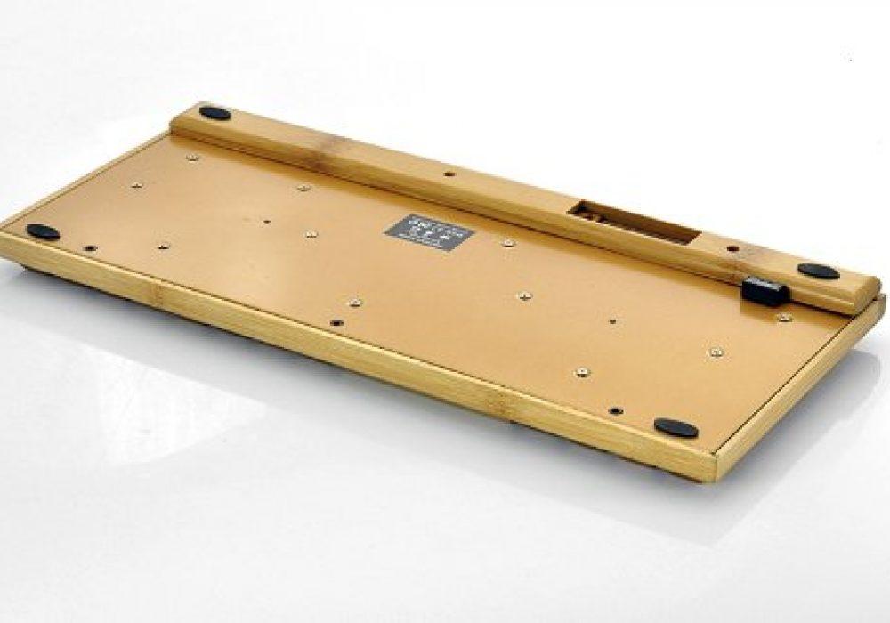 Wireless Wooden Keyboard Bottom Battery Slot