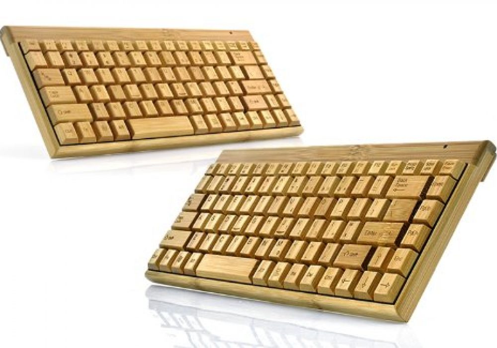 Wireless Wooden Keyboard Hand Crafted