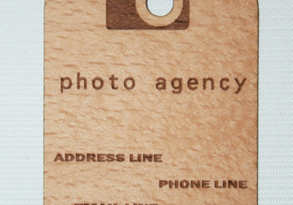 Wood Power Wooden Business Card Cool Marketing Idea