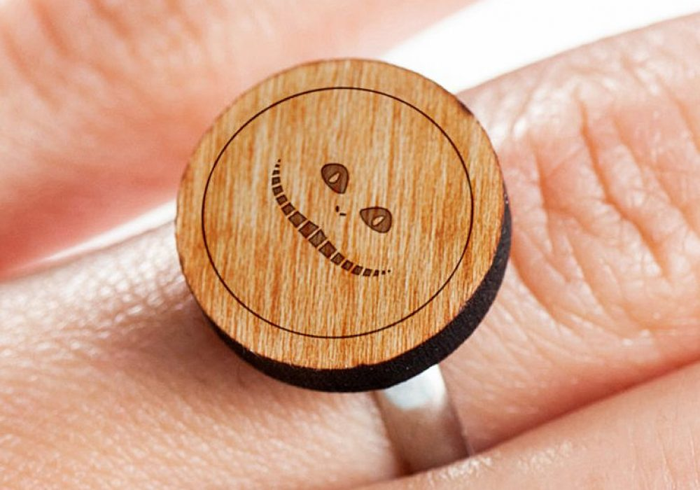 Wooden Accessories Co. Wooden Cheshire Cat Ring Accessory Shopping