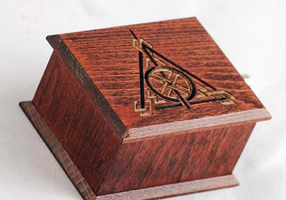 Woodissimo Harry Potter Deathly Hallows Music Box handmade products