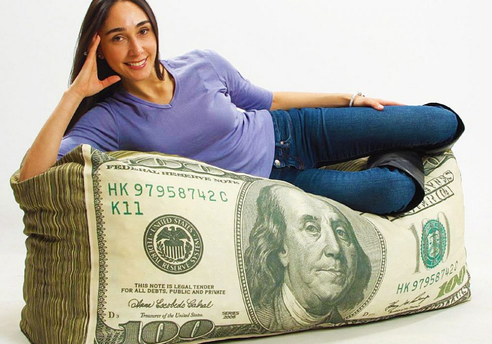 Wow!-Works-Money-Adult-Beanbag-Chair-Cool-Furniture-Dollar-Bill
