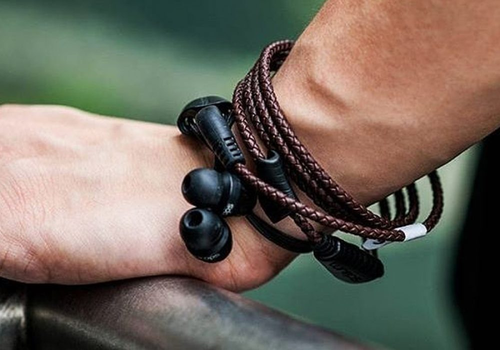 Wraps Wearable Braided Wristband Headphone Mobile Accessories