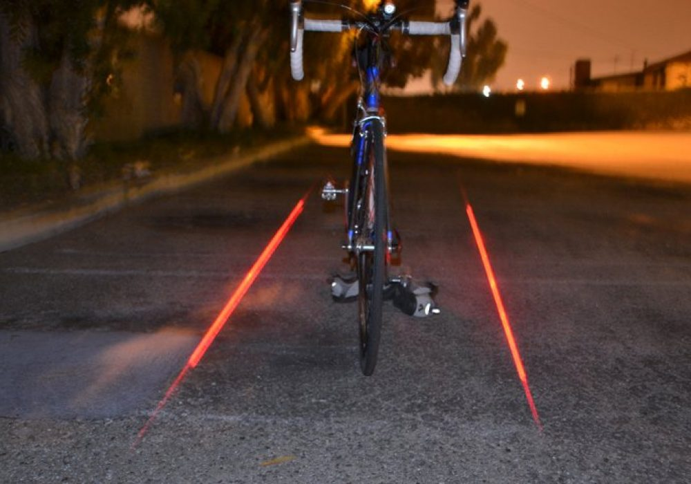 XFire Bike Safety Lighting System Red Laser Lane