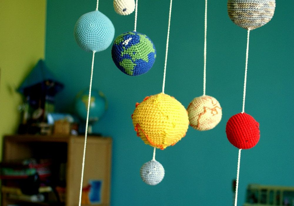 Yarn Ball Stories Solar System Planets Mobile Crib Accessory