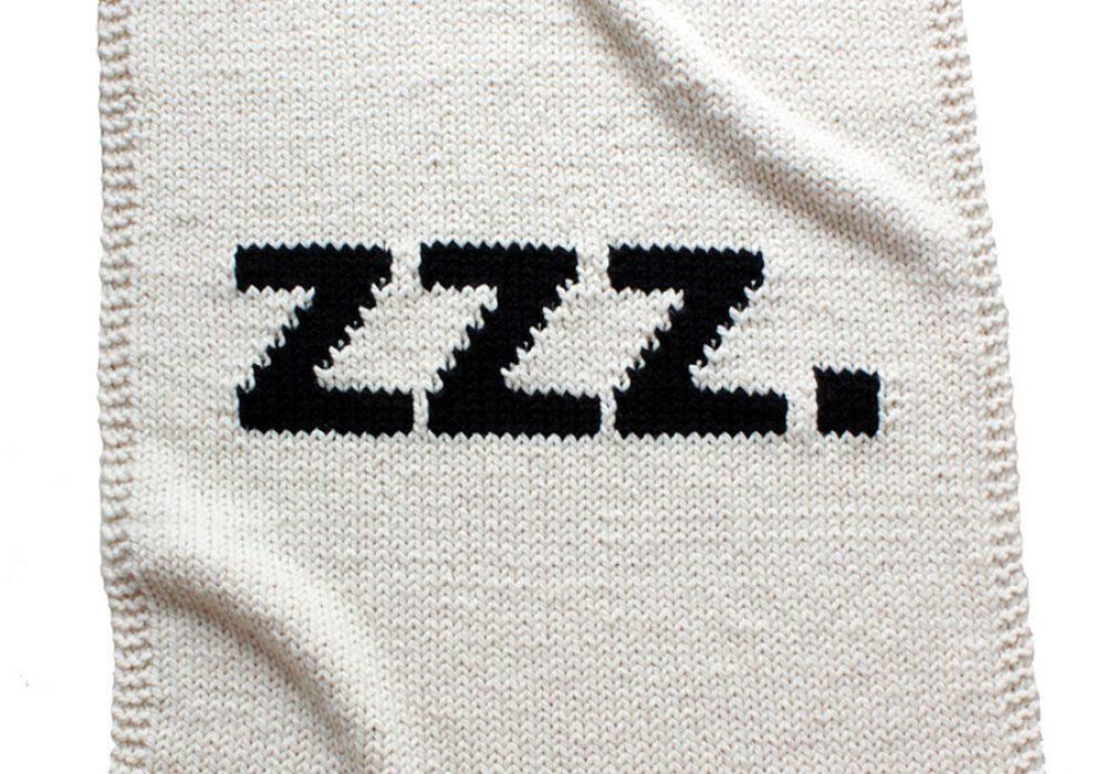 Yarning Made ZZZ Baby Blanket Awesome Novelty