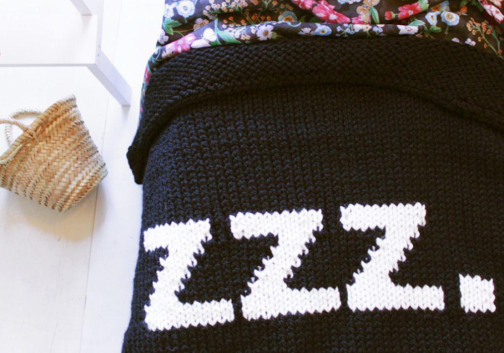Yarning Made ZZZ Baby Blanket Cool Bedding Item