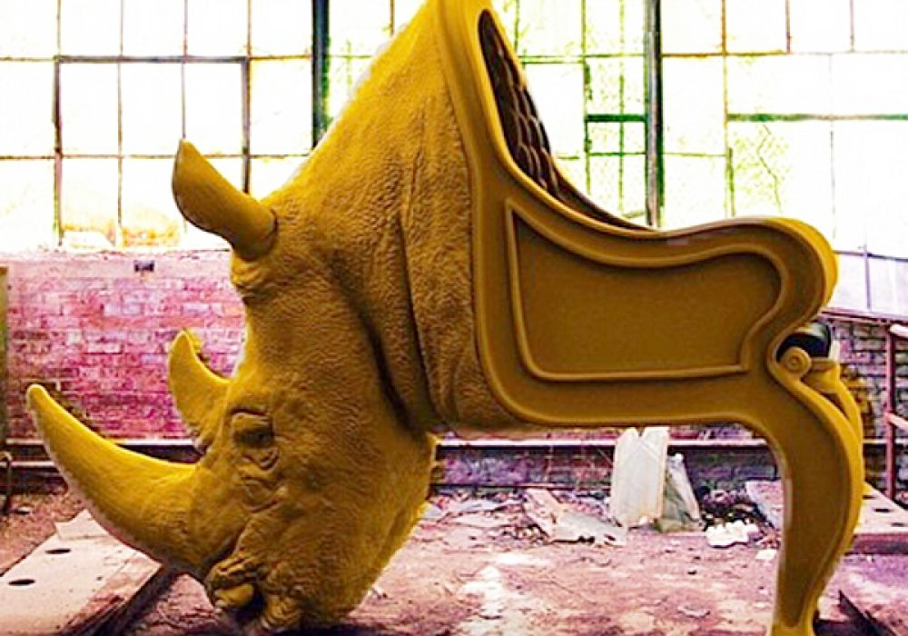 Yello-Rhino-Animal-Chair-Functional-Modern-Artwork