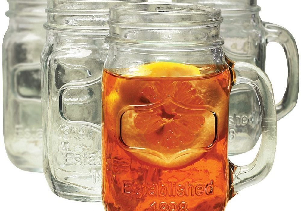 Yorkshire Mason Jar Mug Ice Tea