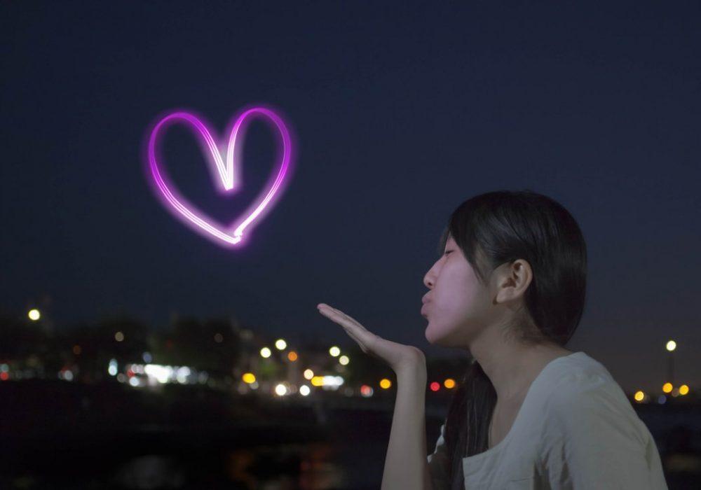 Yozora Oekaki Art Penlight Pink Heart Novelty Item