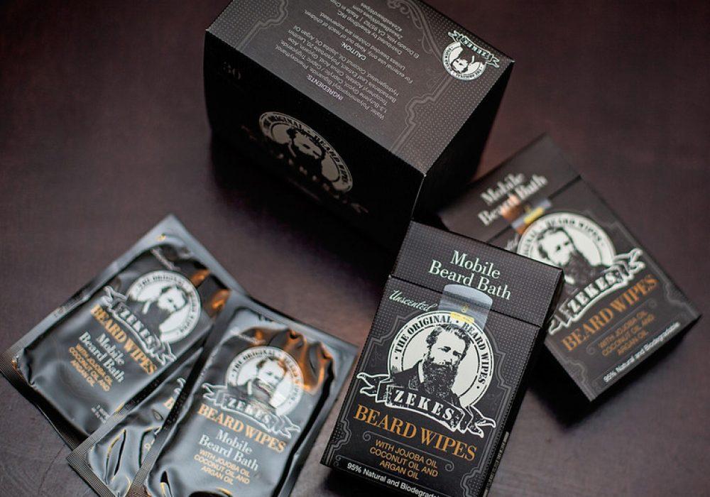 Zekes Original Beard Wipes Weird Product to Buy