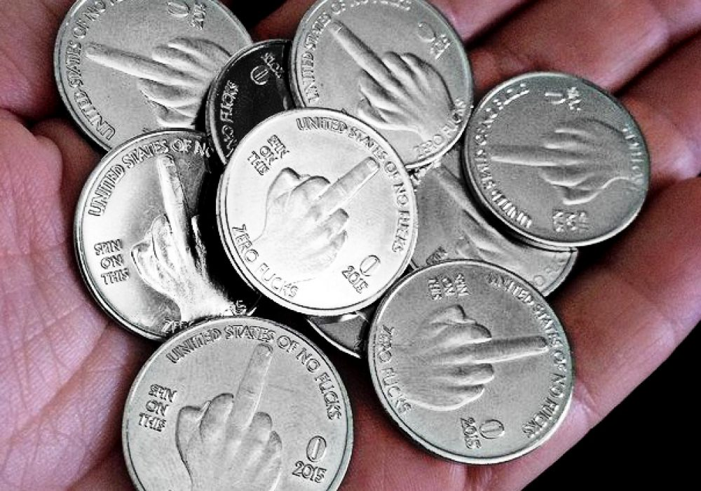 Zero Fucks Given Coin Fake Coins For Games