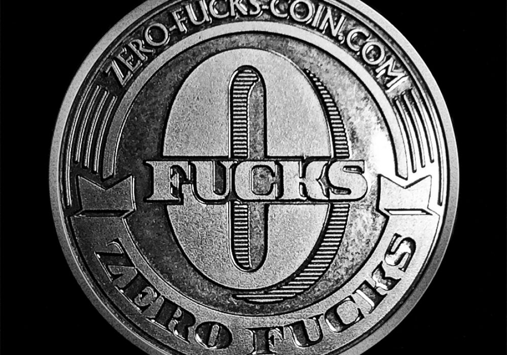 Zero Fucks Given Coin Hillarious Collectibles