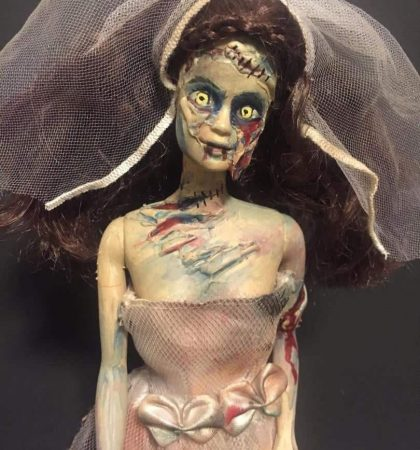 Zombie Barbie Bride Custom Goth Dead Doll