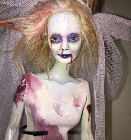 Zombie Bride OOAK Dead Doll