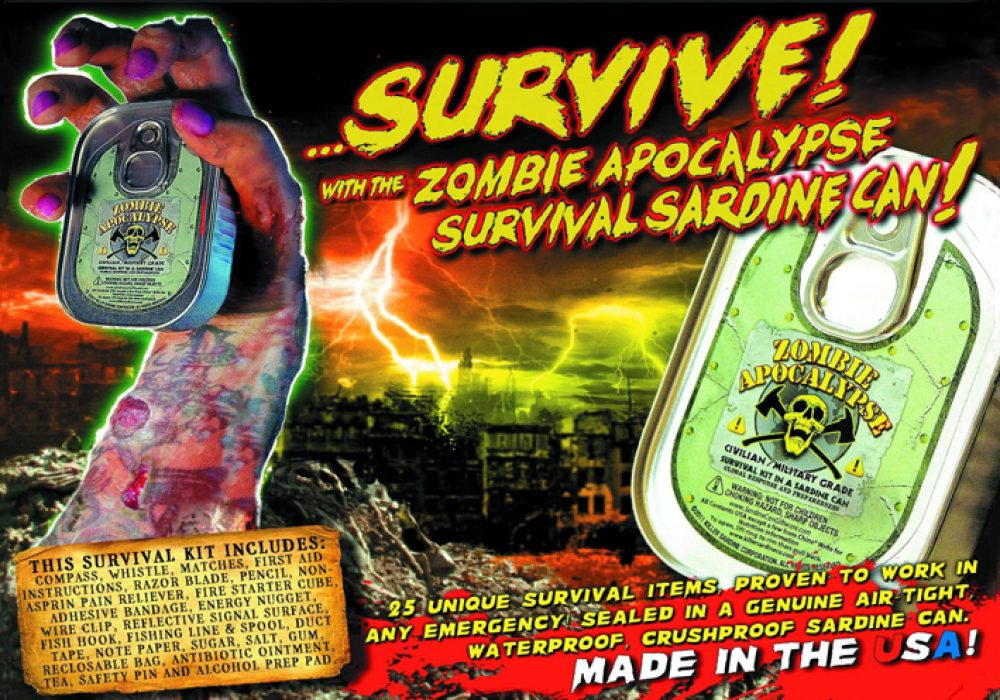 Zombie Survival Sardine Can Cool Gift Ideas