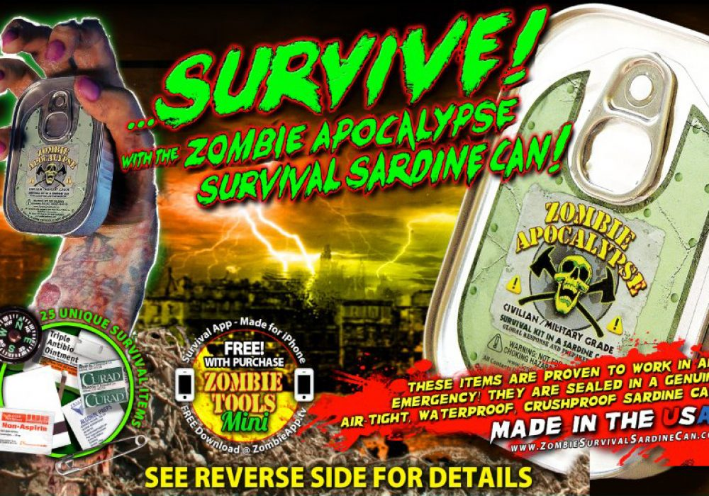 Zombie Survival Sardine Can Promotional Poster