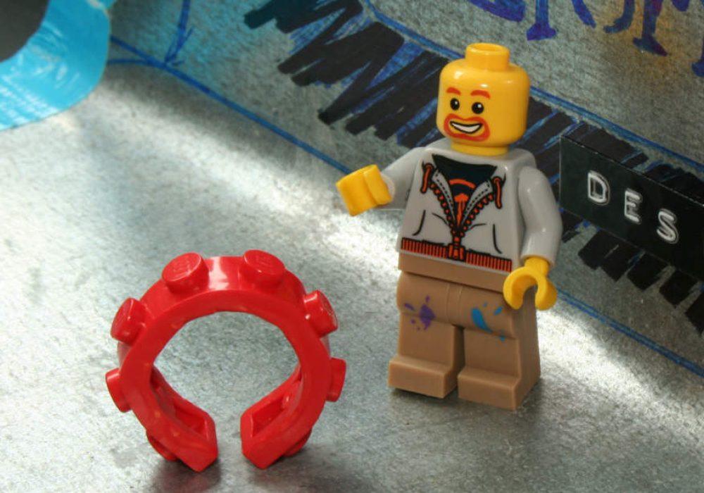 reForme Single Wide Lego Ring Geeky Fashion Accessory